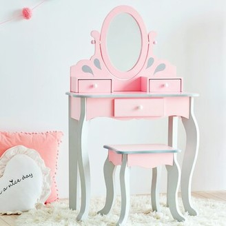 Teamson Kids Little Princess Rapunzel Vanity Set with Mirror