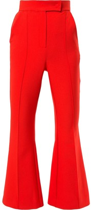 Dalood Cropped Flared Trousers