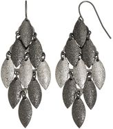 Apt. 9 Textured Two Tone Marquise Kite Earrings