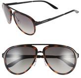 Carrera Men's Eyewear 58Mm Aviator Sunglasses - Havana/ Brown Gradient