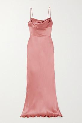 Dolce & Gabbana Draped Silk-satin Gown - Pink