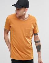 Nudie Jeans Worker Pocket T-Shirt in Orange