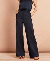 Brooks Brothers Cotton Sateen Wide-Leg Pants