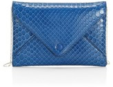 The Row Python Envelope Clutch
