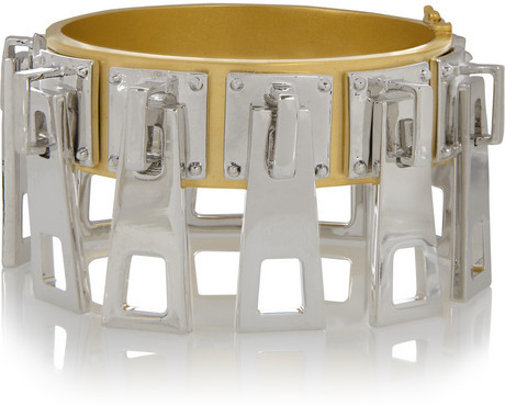 Slider gold and silver-plated zip bracelet