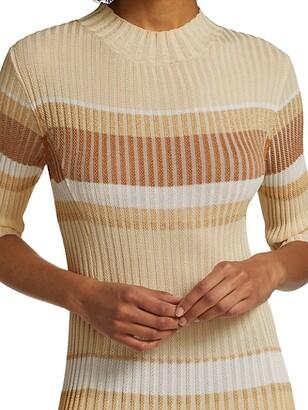 Proenza Schouler Zig Zag Stripe Knit Dress