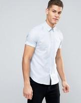 Ted Baker Short Sleeve Linen Slim Shirt