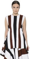 Sportmax Asymmetric Patchwork Felted Wool Top