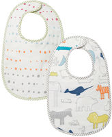 Petit Pehr Noah's Ark & Painted Dots Bib - Set of 2