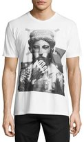 Neil Barrett Tattooed Statue Graphic T-Shirt, White