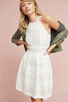 Eliza J Lace Halter Mini Dress