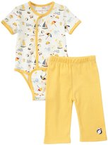 Magnificent Baby Seaside Bodysuit Pant Set (Baby) - Yellow-9 Months