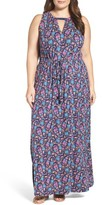 Lucky Brand Plus Size Women's Floral Print Maxi Dress