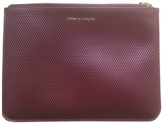 Comme des Garcons Burgundy Leather Clutch bags