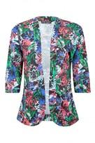 Select Fashion Fashion Womens Multi Dark Tropical Soft Jacket - size 6