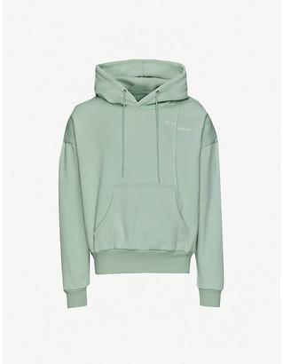 Pieces Uniques Trust brand-print cotton-jersey hoody