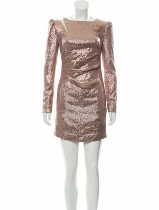 Rachel Zoe Crew Neck Mini Dress w/ Tags Gold