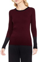 Vince Camuto Petite Women's Colorblock Ribbed Sweater