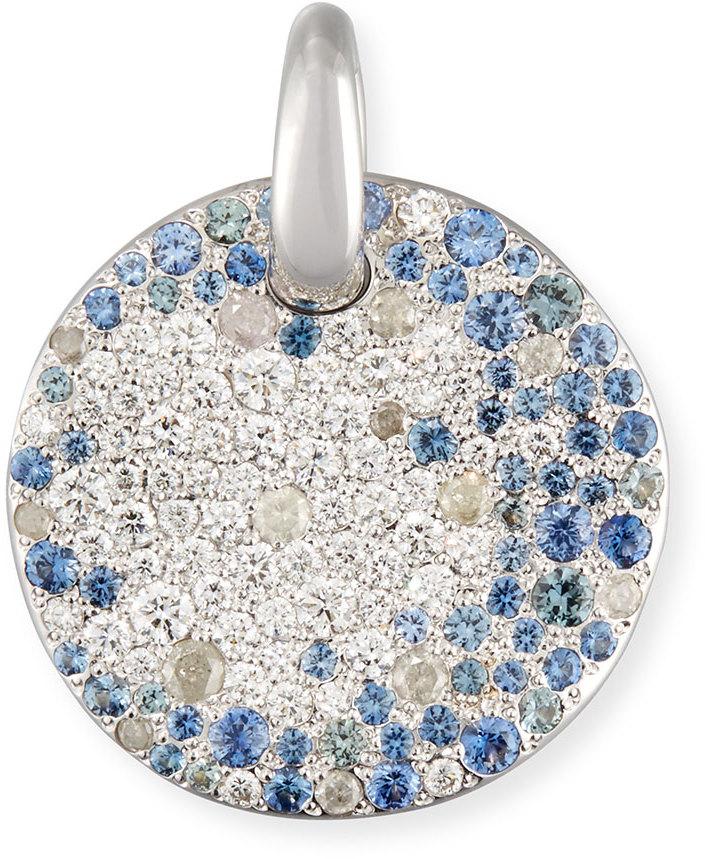 Pomellato Sabbia Diamond & Sapphire Pendant in 18K White Gold