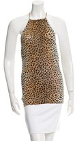 Dolce & Gabbana Cheetah Print Halter Top