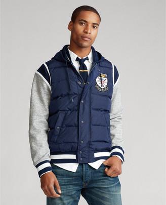 Ralph Lauren Down-Paneled Baseball Jacket