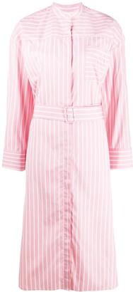 MSGM Stripe-Print Cotton Dress