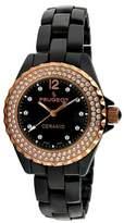 PEUGEOT Watches Peugeot Women's Black Genuine Ceramic Swiss Watch