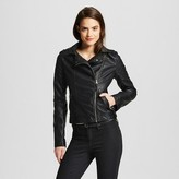 Xhilaration Women's Faux Leather Moto Jacket