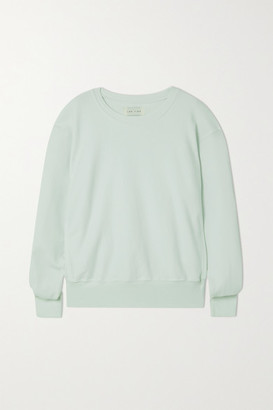 LES TIEN Cotton-jersey Sweatshirt - Mint