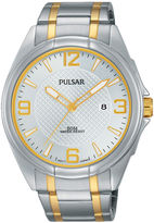 Pulsar Easy Style Mens Two-Tone Stainless Steel Watch