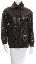 Saint Laurent Fur-Trimmed Quilted Jacket