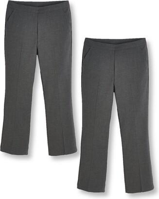 Very Girls 2 Pack Woven School Trouser Plus - Grey
