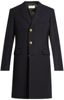 Saint Laurent Single-breasted wool and silk-blend twill coat
