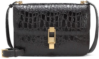 Saint Laurent Carre Small croc-effect leather shoulder bag