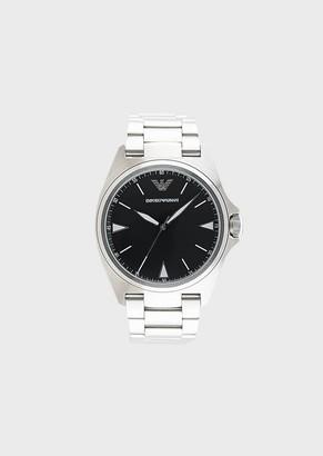 Emporio Armani Men'S Three-Hand Stainless Steel Watch