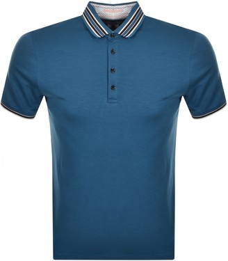 Ted Baker Teacups Polo T Shirt Blue