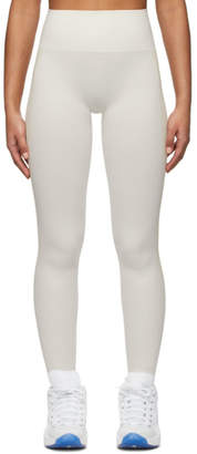 Reebok x Victoria Beckham Off-White and Beige Seamless Leggings