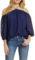 1 STATE Women's 1.state Off The Shoulder Chiffon Blouse