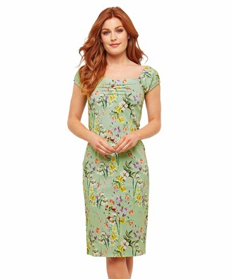 Joe Browns Womens Vintage Floral Dress Green 8