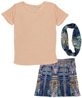 """Kensie Big Girls' """"Pleated Glamour"""" 3-Piece Outfit"""