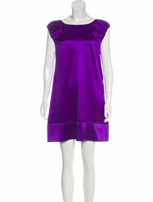 Dolce & Gabbana Short Sleeve Mini Dress Violet