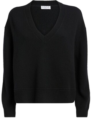 Claudie Pierlot Cropped V-Neck Sweater