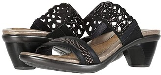 Naot Footwear Contempo (Jet Black Leather/Bronze Rivets) Women's Shoes