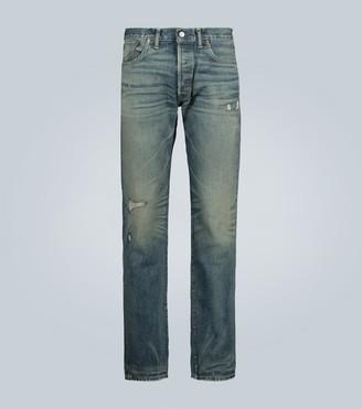 Ralph Lauren RRL Slim-fit washed selvedge jeans