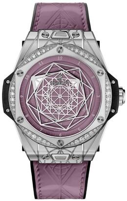 Hublot Stainless Steel and Diamonds Big Bang Watch 39mm