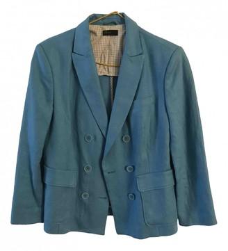 Benetton Blue Linen Jackets