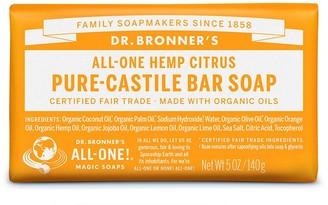 Dr. Bronner's All-One Hemp Citrus Pure-Castile Orange Bar Soap 140G