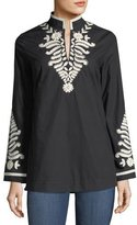 Tory Burch Embroidered-Trim Tunic