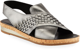 Sesto Meucci Sany Woven Napa Leather Comfort Sandals