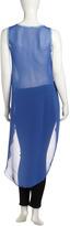 Romeo & Juliet Couture Tie-Dye Hi-Lo Tank, Blue